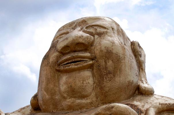 giant-buddha-head-sally-rockefeller