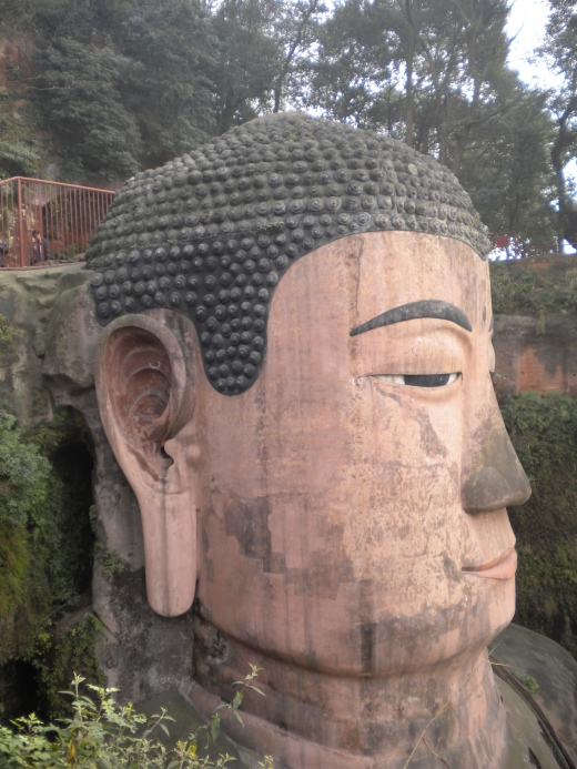 Leshan-Giant-Buddha-China-Size-of-Head