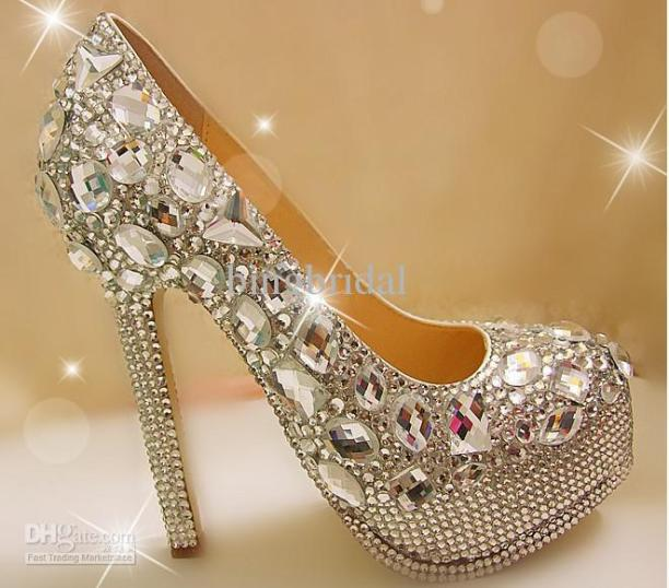 Unique-Sparkling-Crystal-Diamond-Wedding-Bridal-Shoes-High-Heels-Waterproof-Sandal-Party-Prom-Shoes
