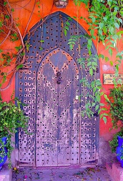 Purple Iron Door Coral facade fr beautiful portals tumblr com