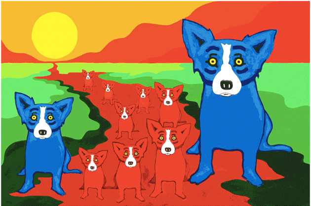 Blue Dogs On The Red River