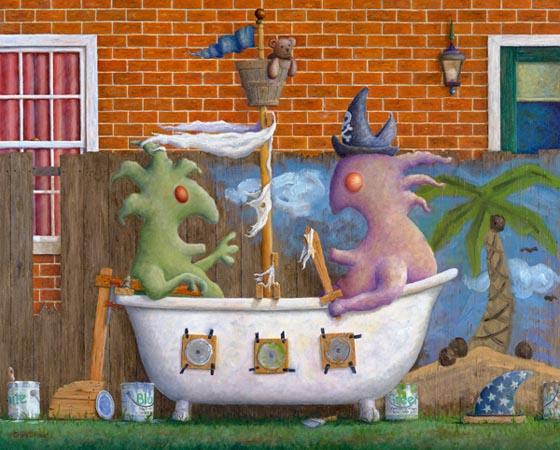 Pirates in a bathtub