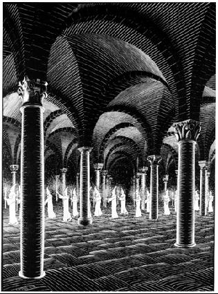 lw115-mc-escher-procession-in-crypt-1927