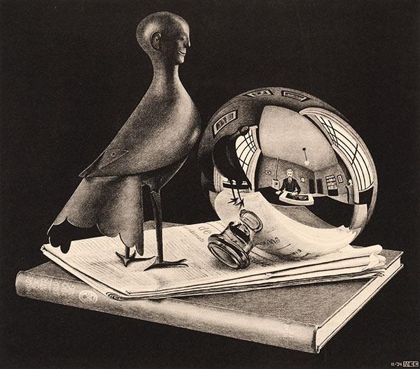 LW267-MC-Escher-Still-Life-with-Spherical-Mirror-19341