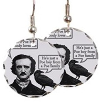 edgar_allan_poe_riffs_on_quee_earring_circle_charm